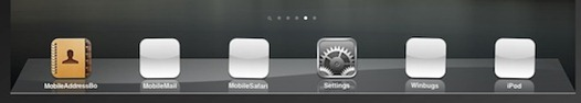 6 icons on iPad dock