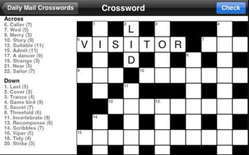 Crossword iPhone app