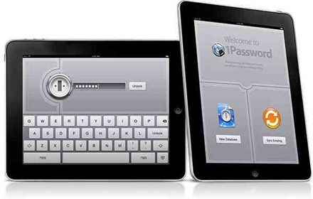 1Password for iPad mockups