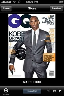 GQ on iPhone