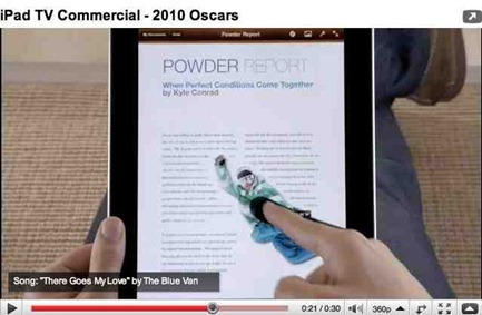 iPad ad during Oscars