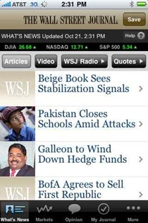 WSJ Mobile on iPhone