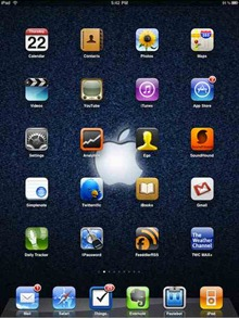 Apple logo iPad wallpaper