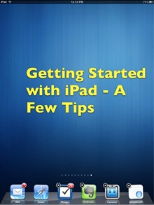 iPad Getting Started Tips