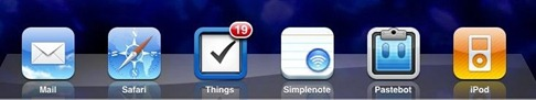 apps in my iPad dock