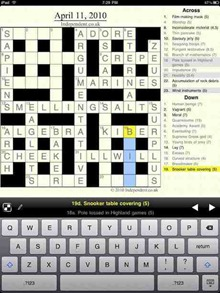 Crosswords iPad app