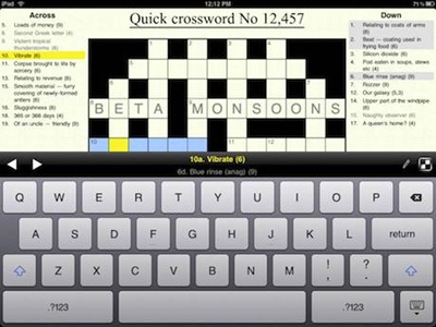 Crosswords app