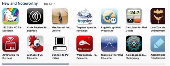 New and Noteworthy iPad apps