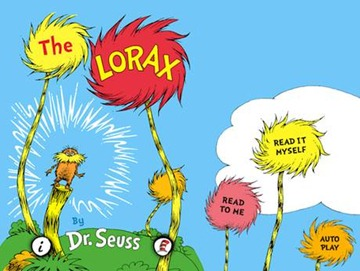 The Lorax eBook on iPad