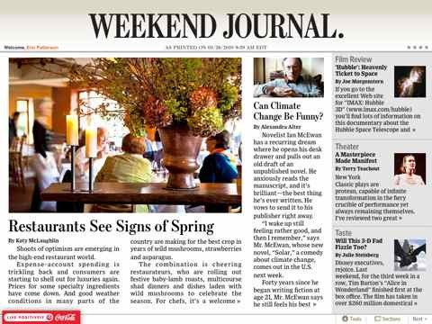 Wall Street Journal For Ipad Subscriptions Going Well