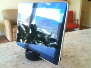 hockey puck iPad stand