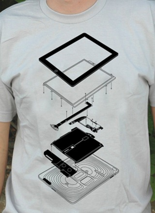 Exploded iPad t-shirt
