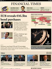 Financial Times iPad Edition app