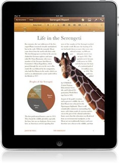 Pages iPad app