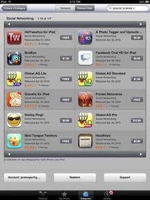 iPad Social Networking apps