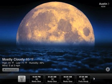 Weather HD iPad app