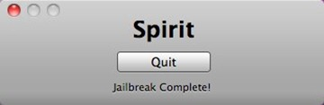 Using Spirit jailbreak for iPad