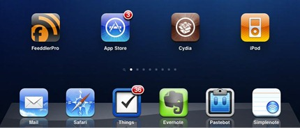 iPad with Cydia