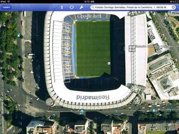 Bernabeu on Google Earth app