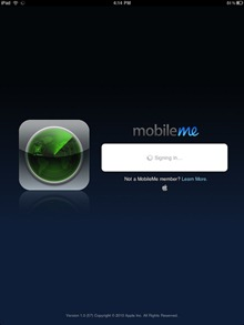 Find My iPhone app for iPad