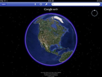 Google Earth app for iPad and iPhone