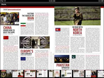 Newsweek for iPad app