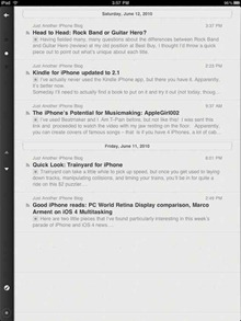 Reeder RSS app for iPad