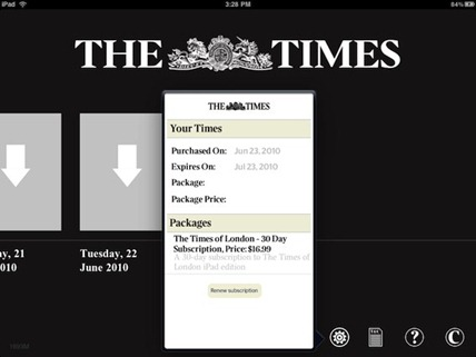 Times of London for iPad