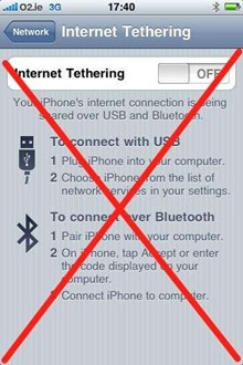 iPhone with iPad Tethering