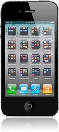 Folders on iPhone iOS 4