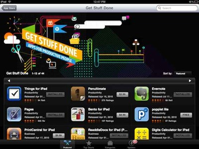 Get Stuff Done App Store section