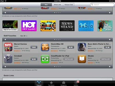 New App Store Sections