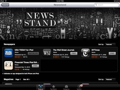 App Store Newsstand section