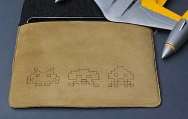 Space Invaders iPad case