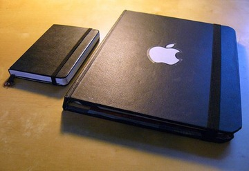 Homemade moleskin case for the iPad