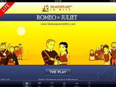 Shakespeare In Bits Romeo & Juliet iPad Edition