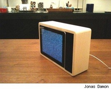 iPad disguised as old TV