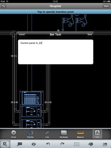 AutoCad WS app for iPad