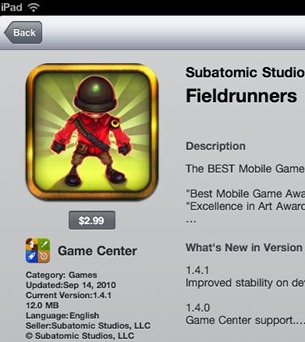 Game Center badge in App Store