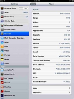 iPad with iOS 4.2