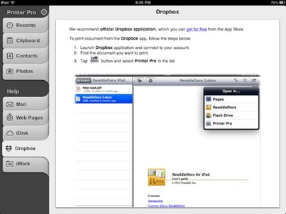 Printer Pro iPad app