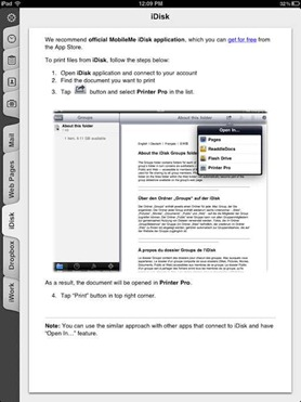 Printer Pro iPad printing app