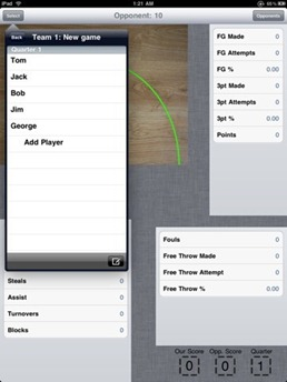 Rapid Stats Basketball for iPad