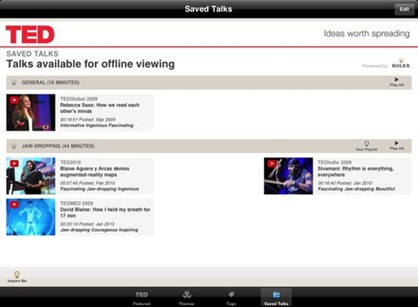 TED Talks for iPad