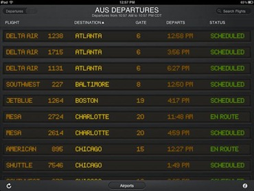 FlightBoard for iPad