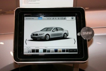 IPad at BMW Auto Show