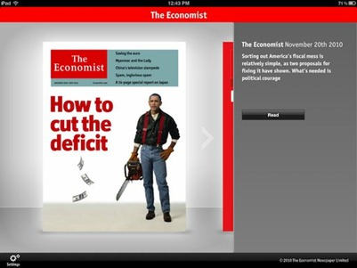The Economist on iPad