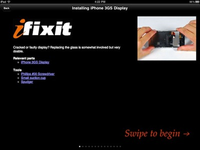 iFixit repair guides on iPad