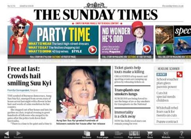 Sunday Times iPad edition