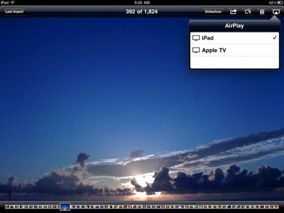 Using AirPlay in the Photos app